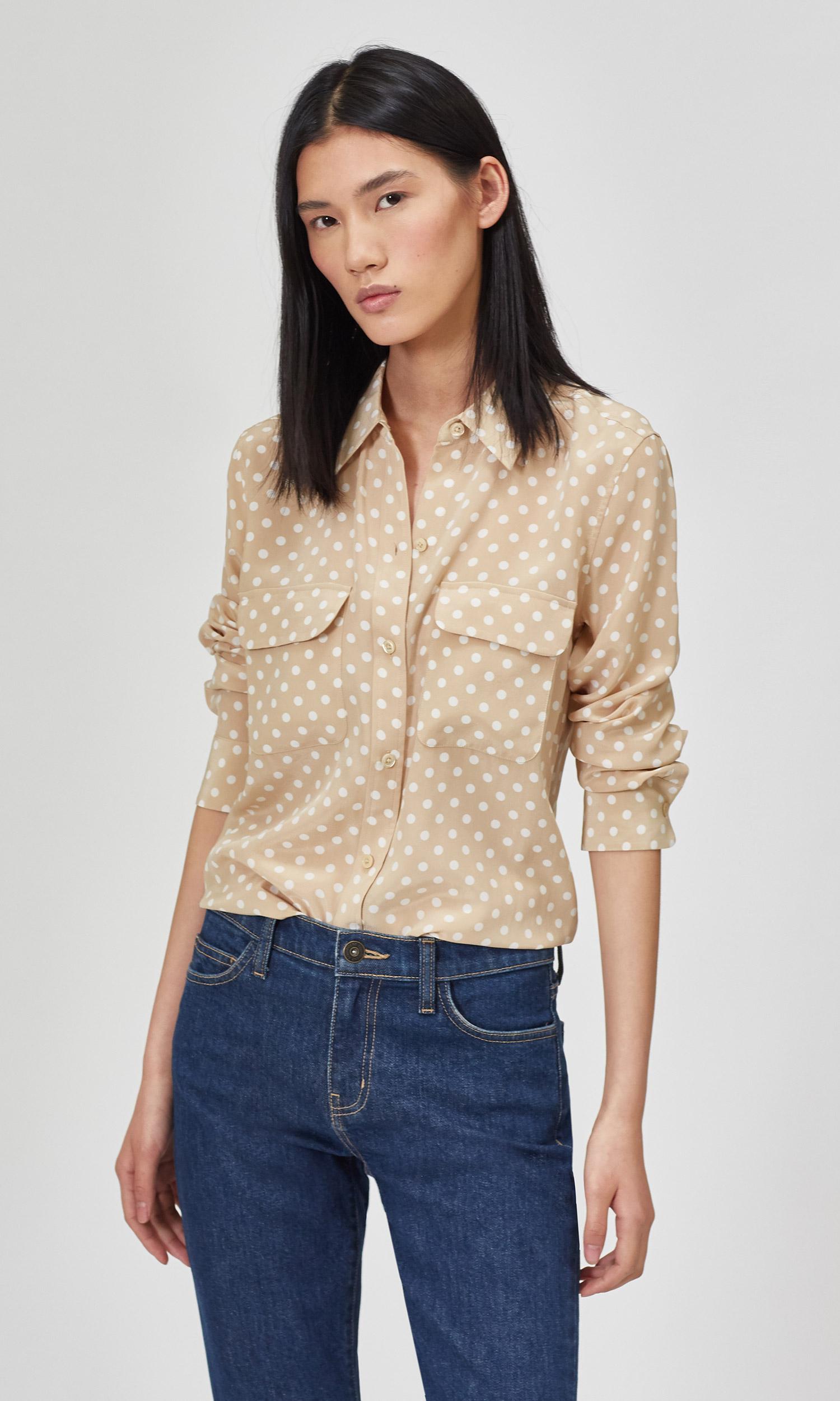 Slim Signature Silk Shirt by Equipment