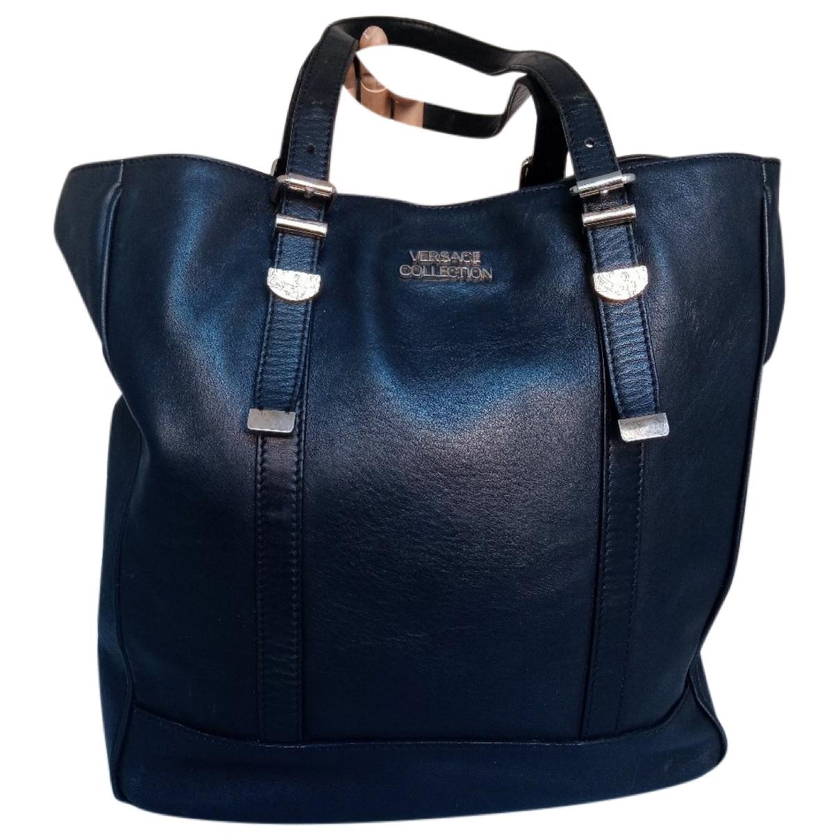 Versace \N Black Leather handbag for Women \N
