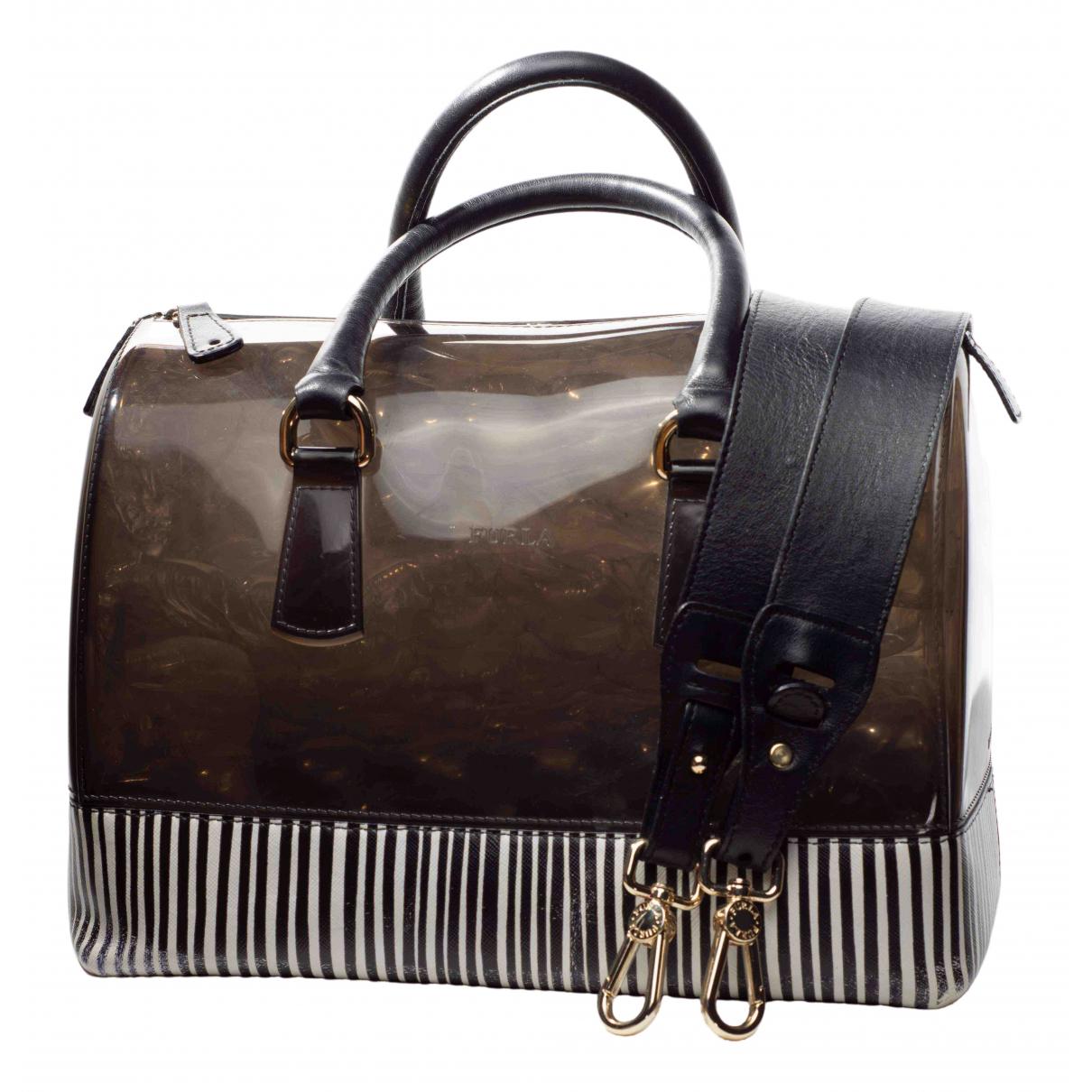 Furla Candy Bag Handtasche in  Schwarz Kunststoff