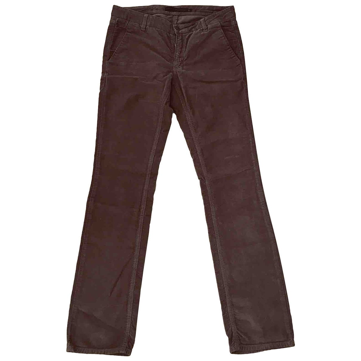 Victoria Beckham \N Brown Cotton Trousers for Women S International