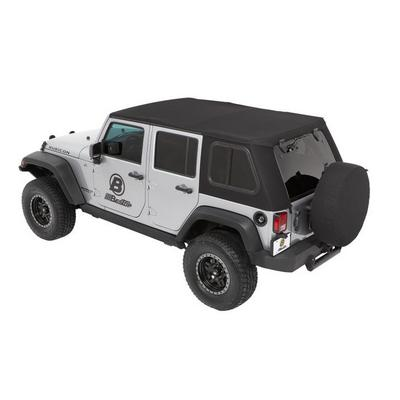 Bestop Trektop Pro Hybrid Soft Top (Black Twill) - 54863-17