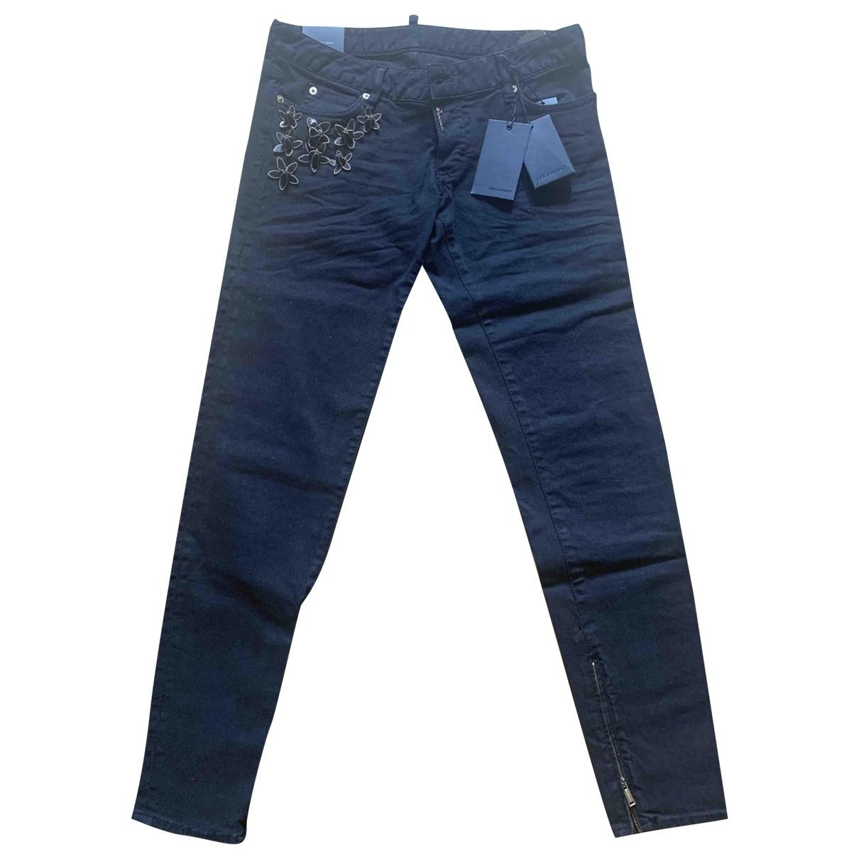 Dsquared2 - Jean   pour femme en coton - elasthane - noir