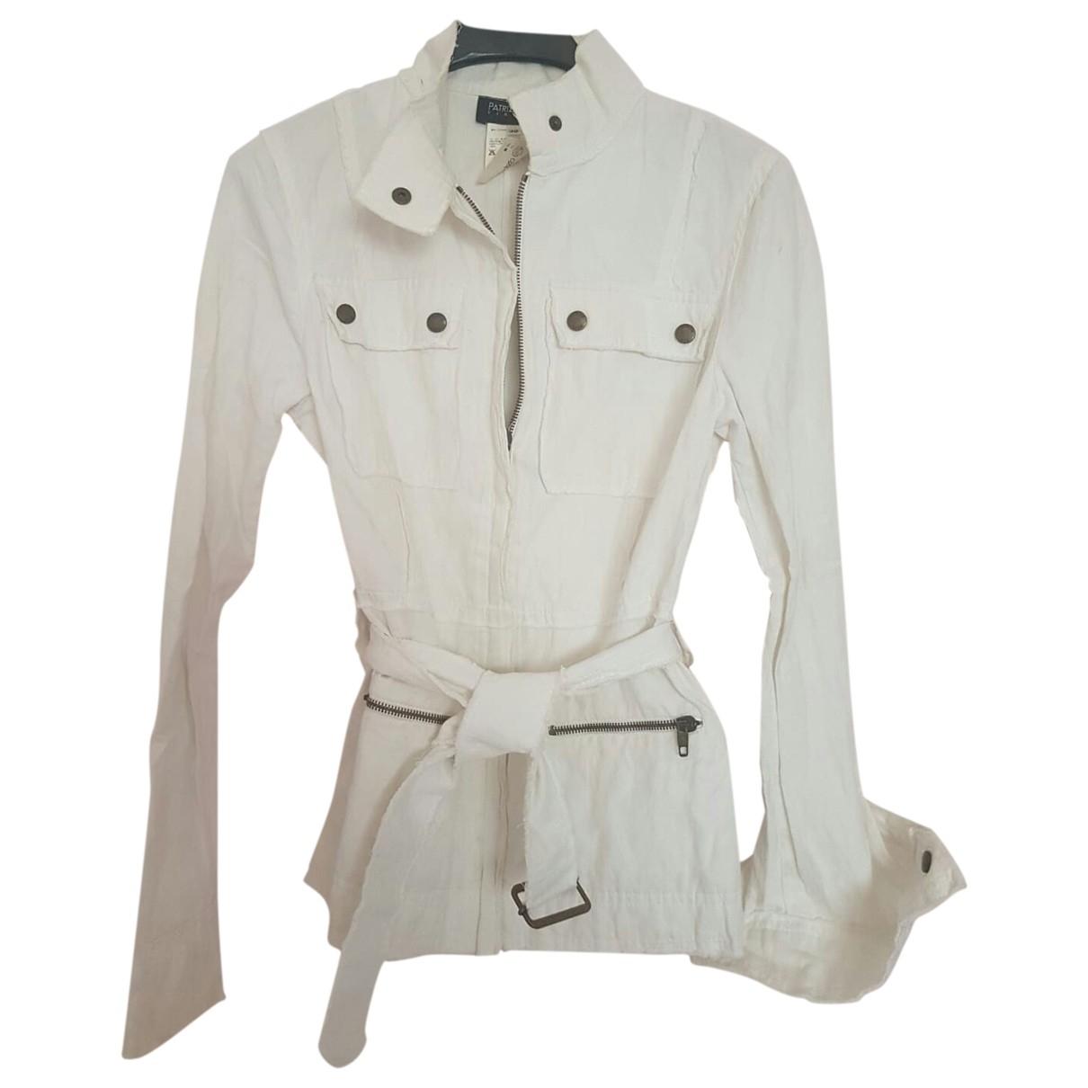 Patrizia Pepe - Veste   pour femme en coton - blanc