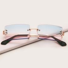 Quadratische randlose Sonnenbrille