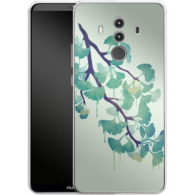 Huawei Mate 10 Pro Silikon Handyhuelle - Ginko Green von Little Clyde