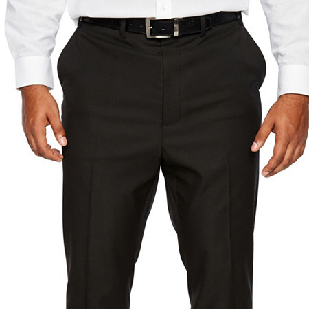 Shaquille O'Neal XLG Black Mens Stretch Regular Fit Suit Pants - Big and Tall, 50 32, Black