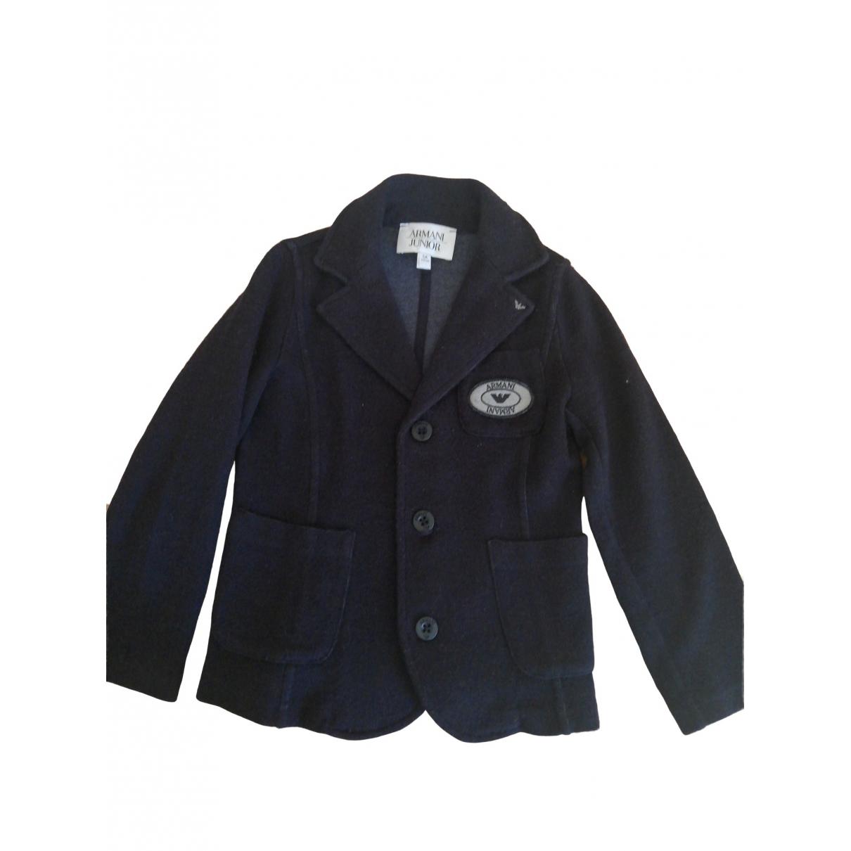 Armani Baby - Blousons.Manteaux   pour enfant en laine - bleu