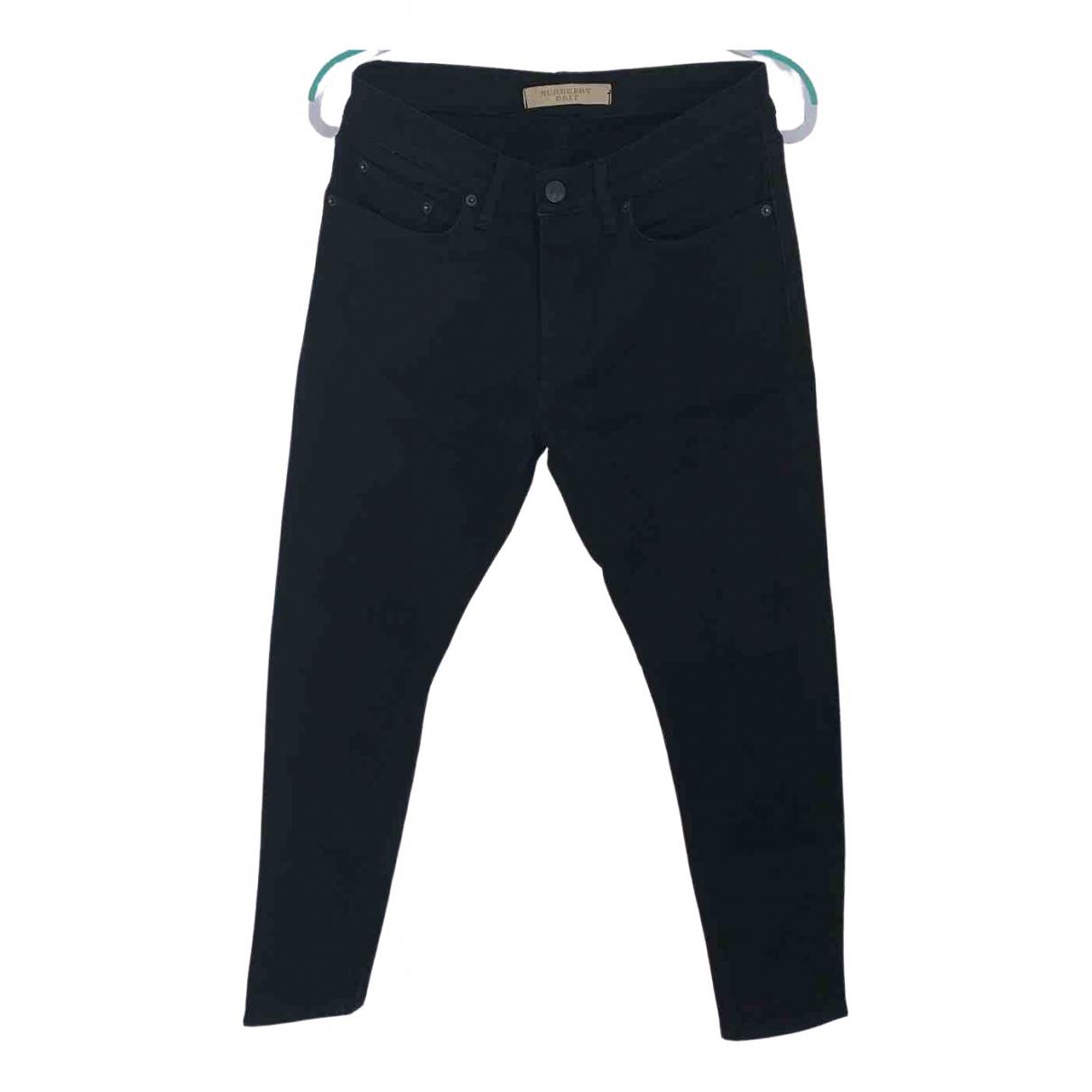 Burberry \N Black Cotton Jeans for Men 32 US