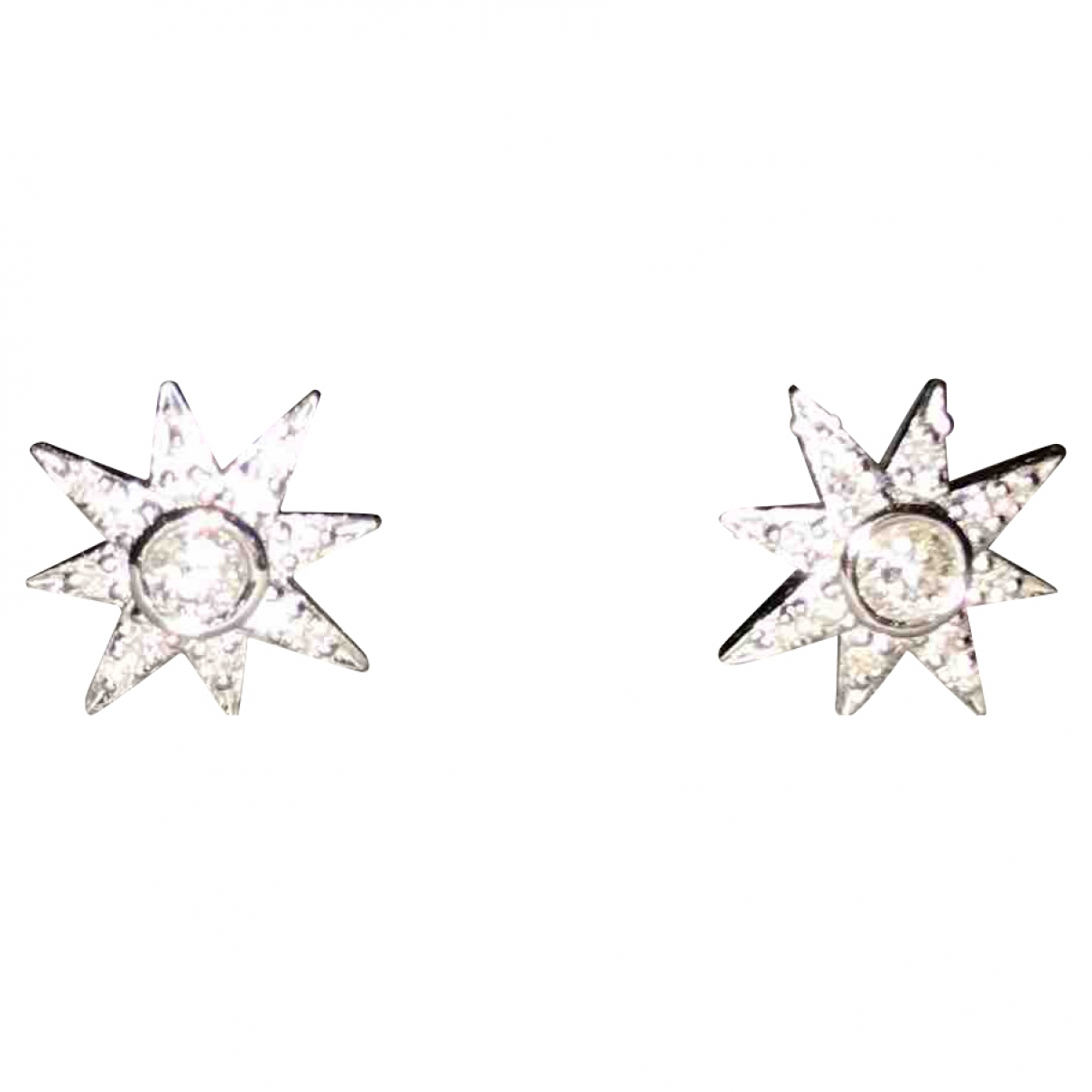 Non Signé / Unsigned Motifs Etoiles Silver White gold Earrings for Women \N