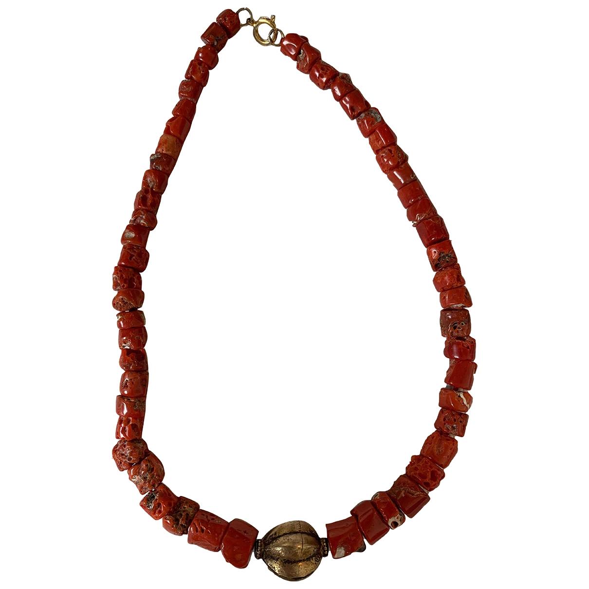 - Collier Corail pour femme en metal - rouge