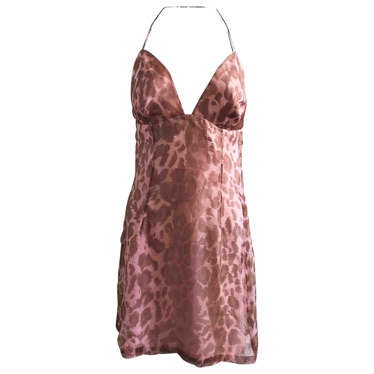 Jacques Fath \N Pink Silk dress for Women 40 FR
