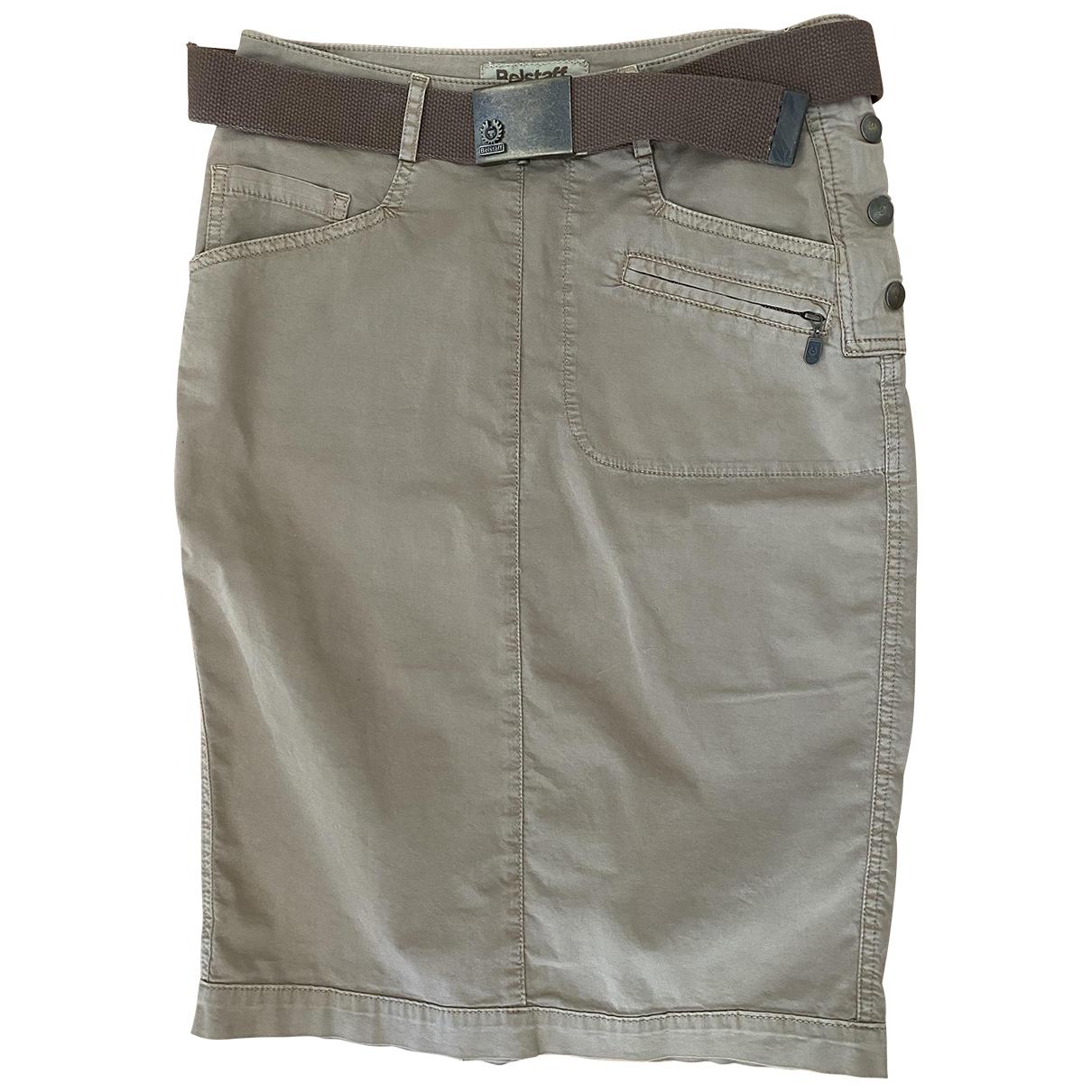 Belstaff \N Beige Cotton - elasthane skirt for Women 40 IT