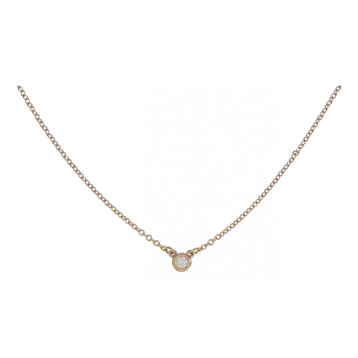 Tiffany & Co - Collier   pour femme en or rose - argente