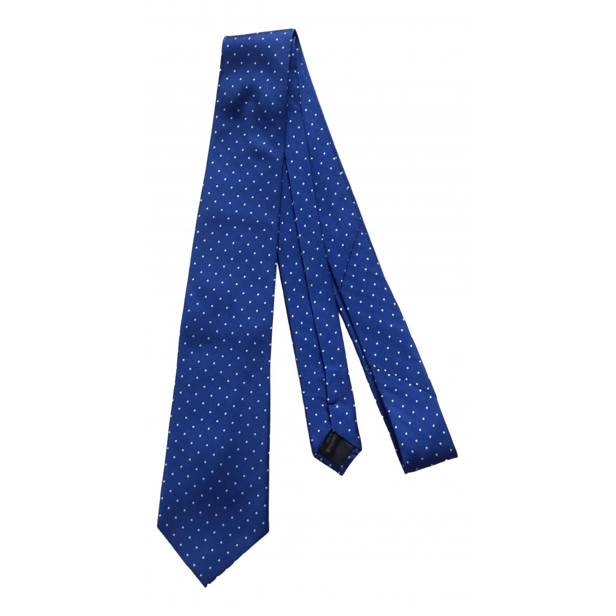 Adolfo Dominguez \N Krawatten in  Blau Seide