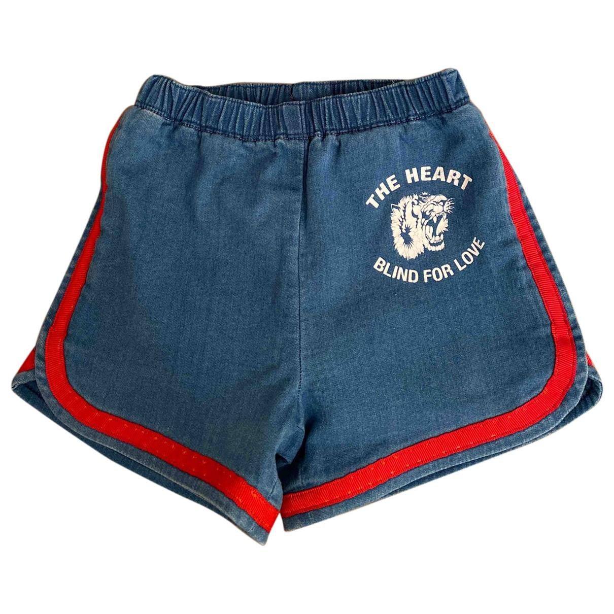 Gucci \N Blue Denim - Jeans Shorts for Kids 18 months - up to 81cm FR