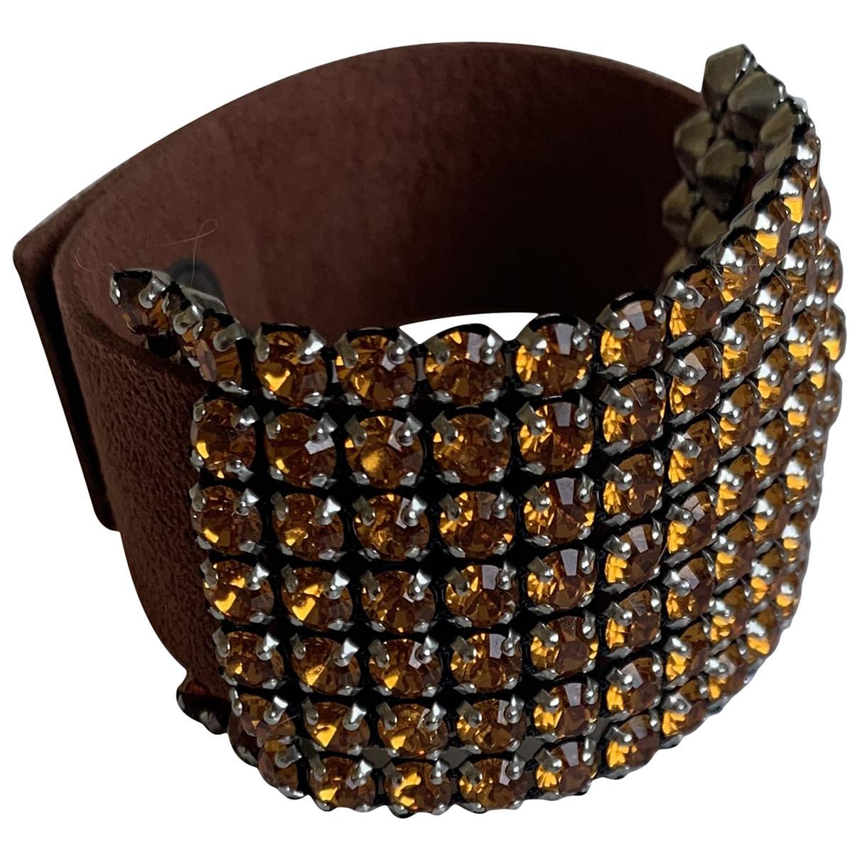 Swarovski \N Armband in  Orange Leder