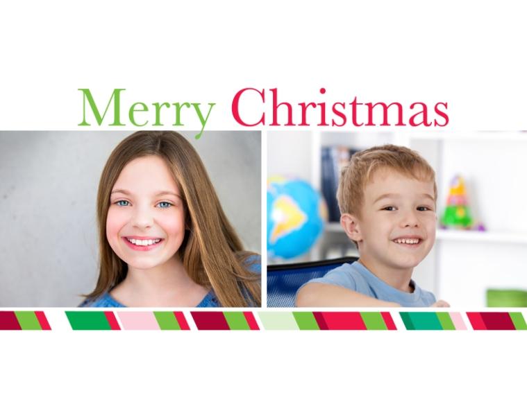 Holiday Designer Ornament (Metal), Gift -Merry Christmas