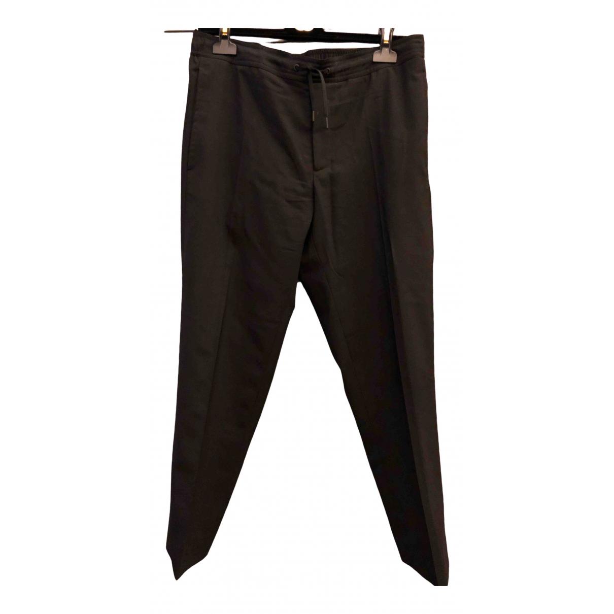 Sandro Spring Summer 2019 Black Wool Trousers for Men 40 FR