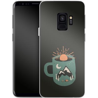 Samsung Galaxy S9 Silikon Handyhuelle - Mountain Morning Wakeup von ND Tank