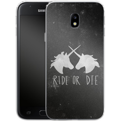 Samsung Galaxy J3 (2017) Silikon Handyhuelle - Ride or Die von Leah Flores