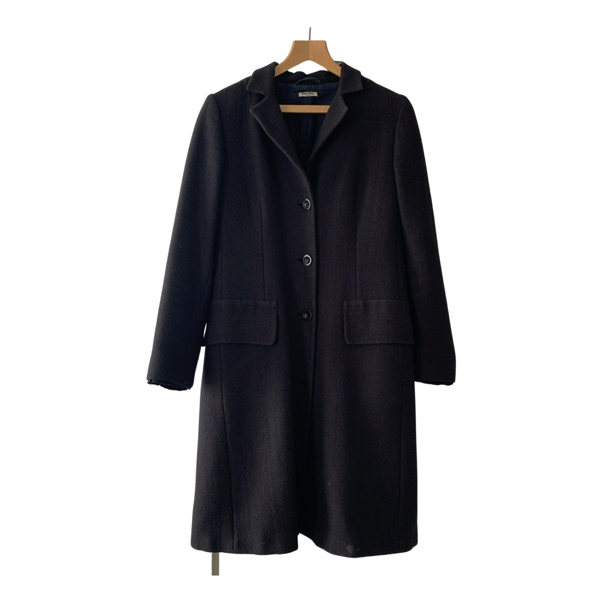 Miu Miu N Brown Wool coat for Women 44 IT