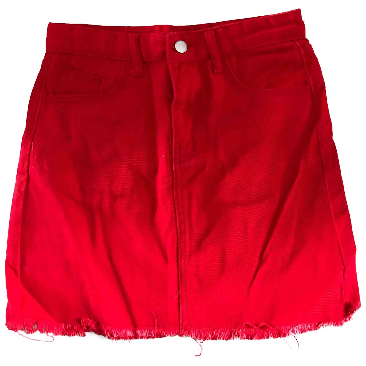 - Jupe   pour femme en coton - rouge