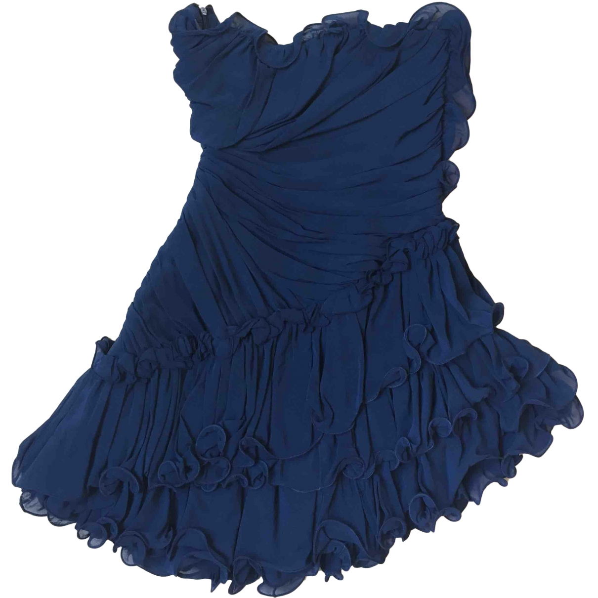 Flavio Castellani \N Blue Silk dress for Women 42 IT