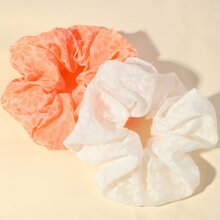 2 piezas goma de pelo con patron de flor