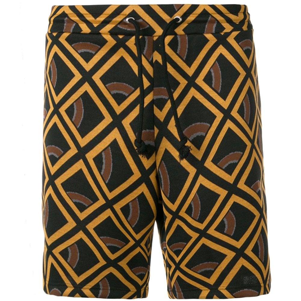 Maison Margiela Geometric Print Shorts Orange Colour: BEIGE, Size: LARGE