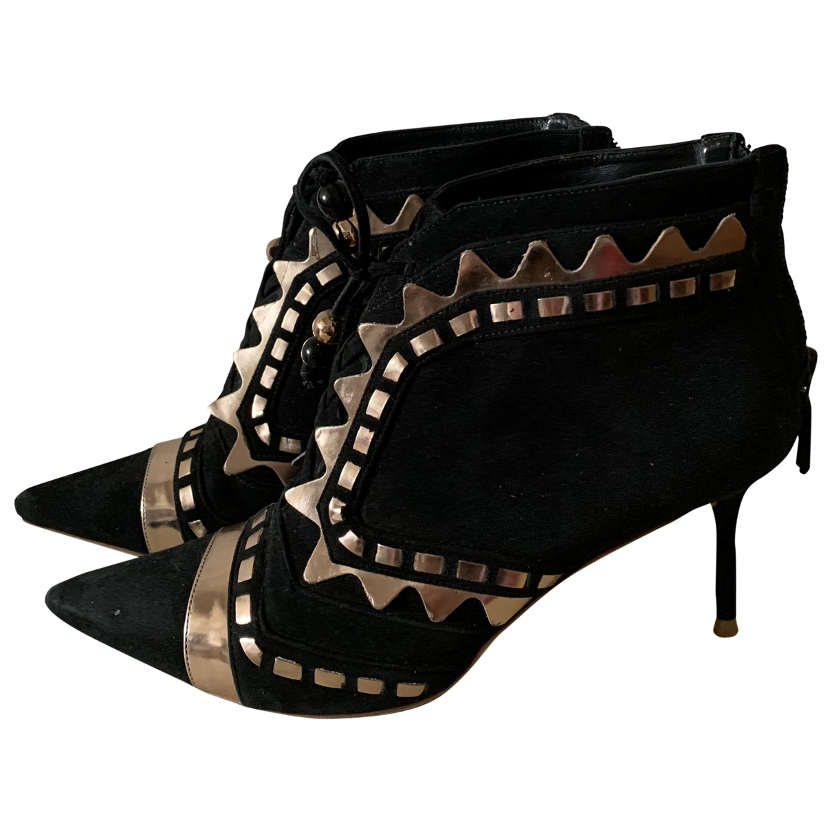 Sophia Webster \N Black Suede Ankle boots for Women 37 EU