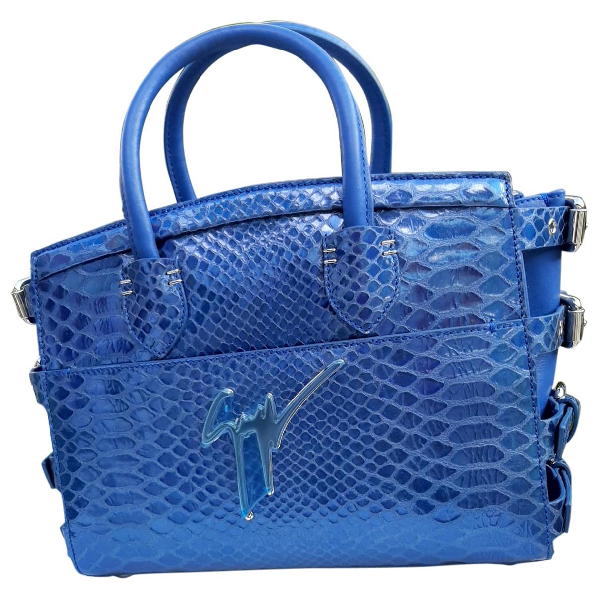 Giuseppe Zanotti \N Blue Leather handbag for Women \N