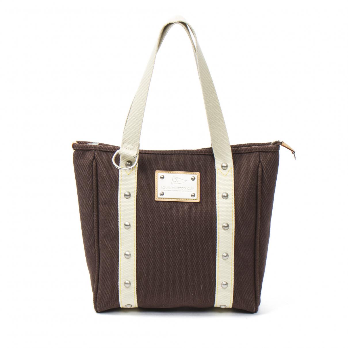 Louis Vuitton Antigua Handtasche in  Braun Leder