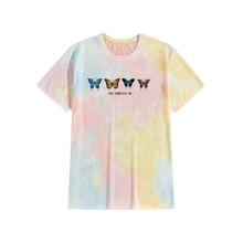 T-Shirt mit Batik und Schmetterling Muster
