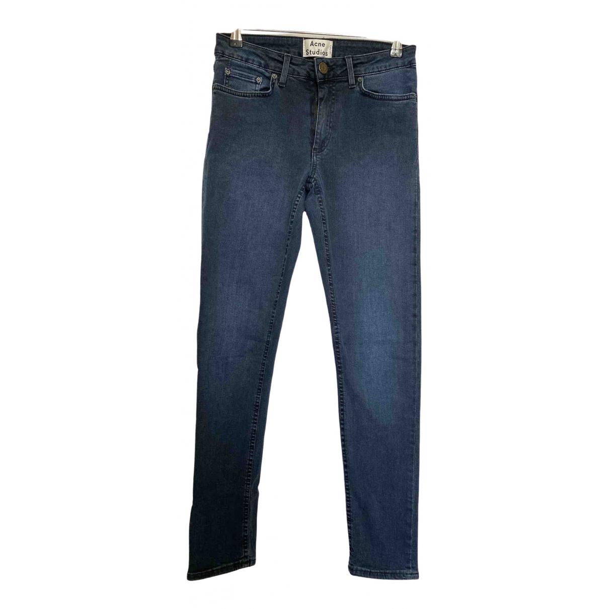 Acne Studios Skin 5 Blue Cotton Jeans for Women 26 US