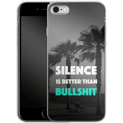 Apple iPhone 6s Silikon Handyhuelle - Silence Is Better von Statements