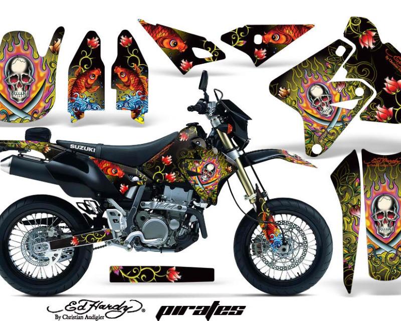 AMR Racing Dirt Bike Graphics Kit Decal Sticker Wrap For Suzuki DRZ400SM 2000-2018áEDHP YELLOW
