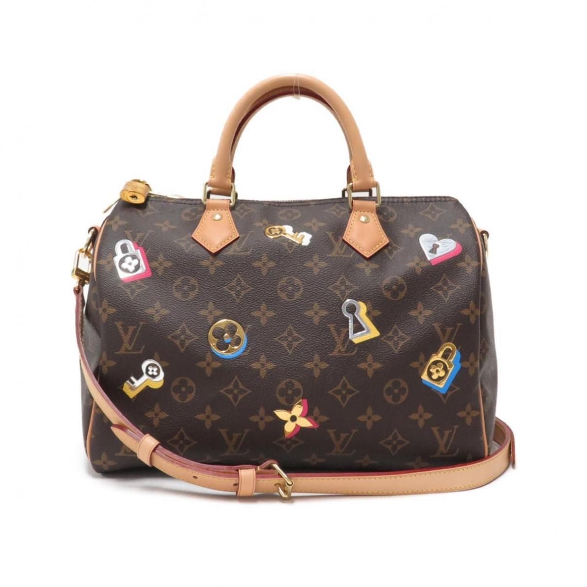 Louis Vuitton Speedy Brown Cloth handbag for Women \N