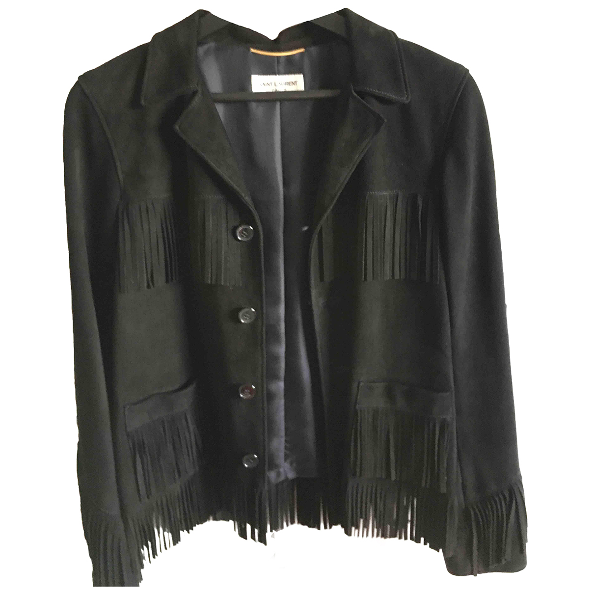 Saint Laurent \N Black Leather jacket for Women 40 IT