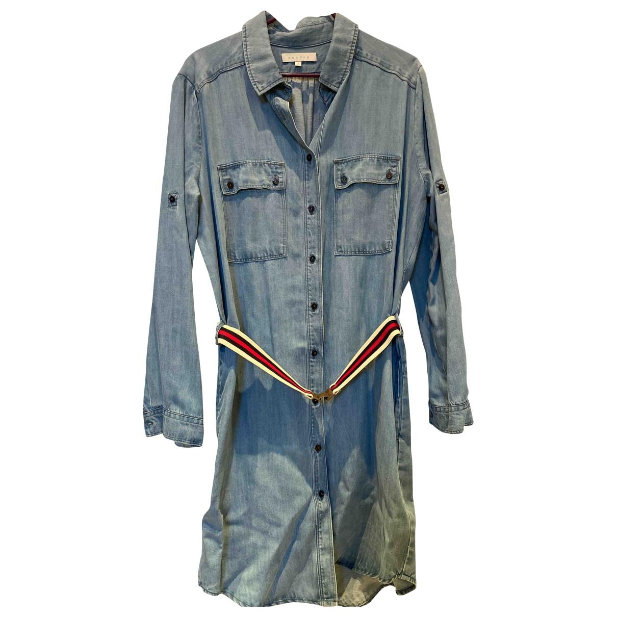 Sandro \N Blue Denim - Jeans dress for Women 44 IT