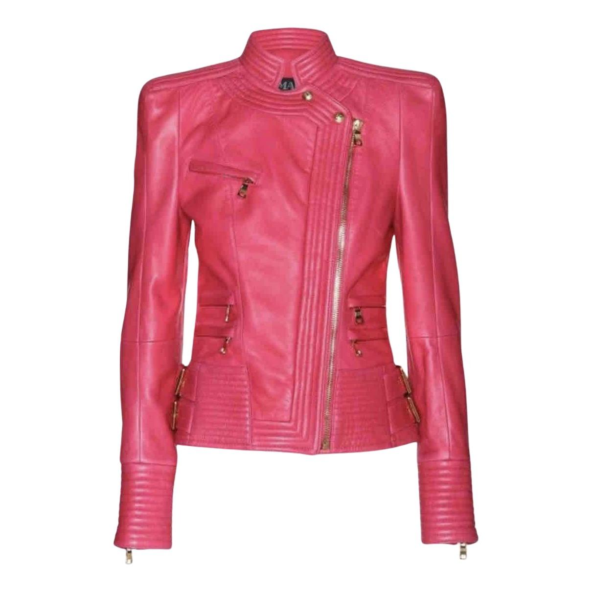 Balmain - Veste   pour femme en cuir - rose