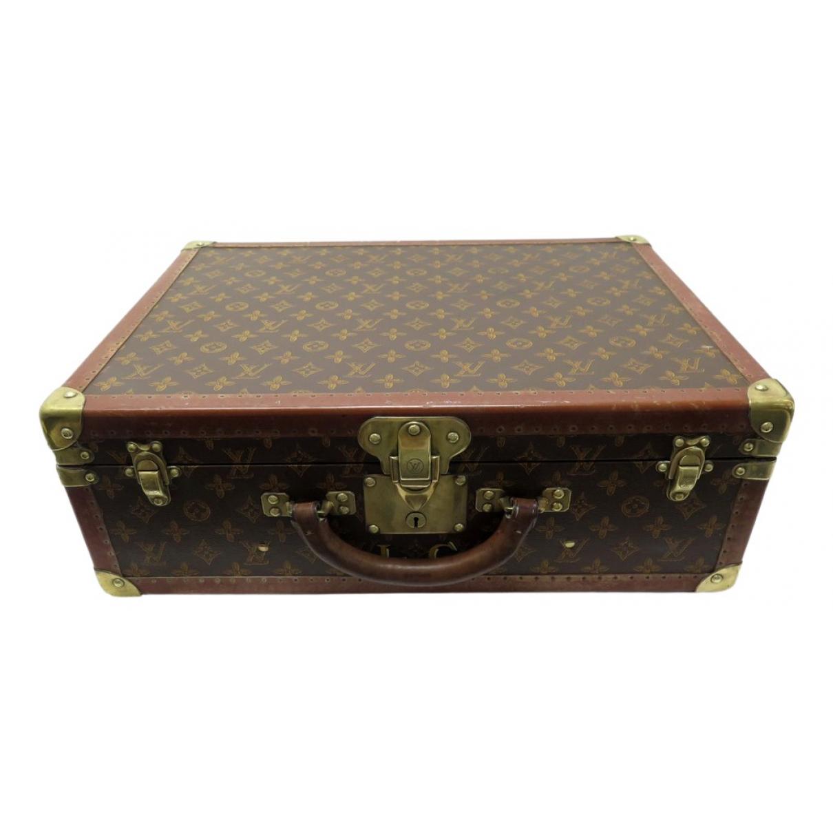Louis Vuitton - Sac de voyage Bisten pour femme en toile - marron
