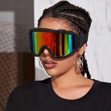 Flat Top Shield Goggle Sunglasses
