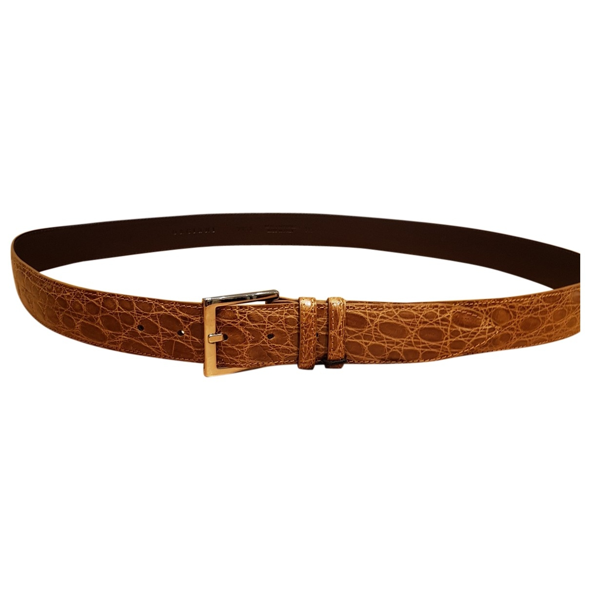 Orciani \N Camel Crocodile belt for Men 100 cm