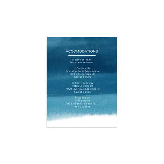 20 Pack of Gartner Studios® Personalized We Do Wedding All Purpose Card in Cobalt | 4.25
