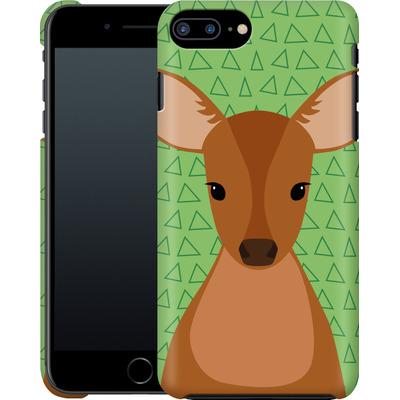 Apple iPhone 7 Plus Smartphone Huelle - Deer on Green von caseable Designs