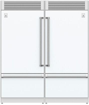 Froth White 72 Side-by-Side Refrigerator with KRPL36WH (Left Hinge) and KRPR36WH (Right