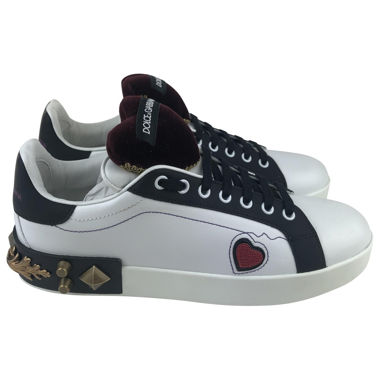Dolce & Gabbana \N White Leather Trainers for Women 41 EU