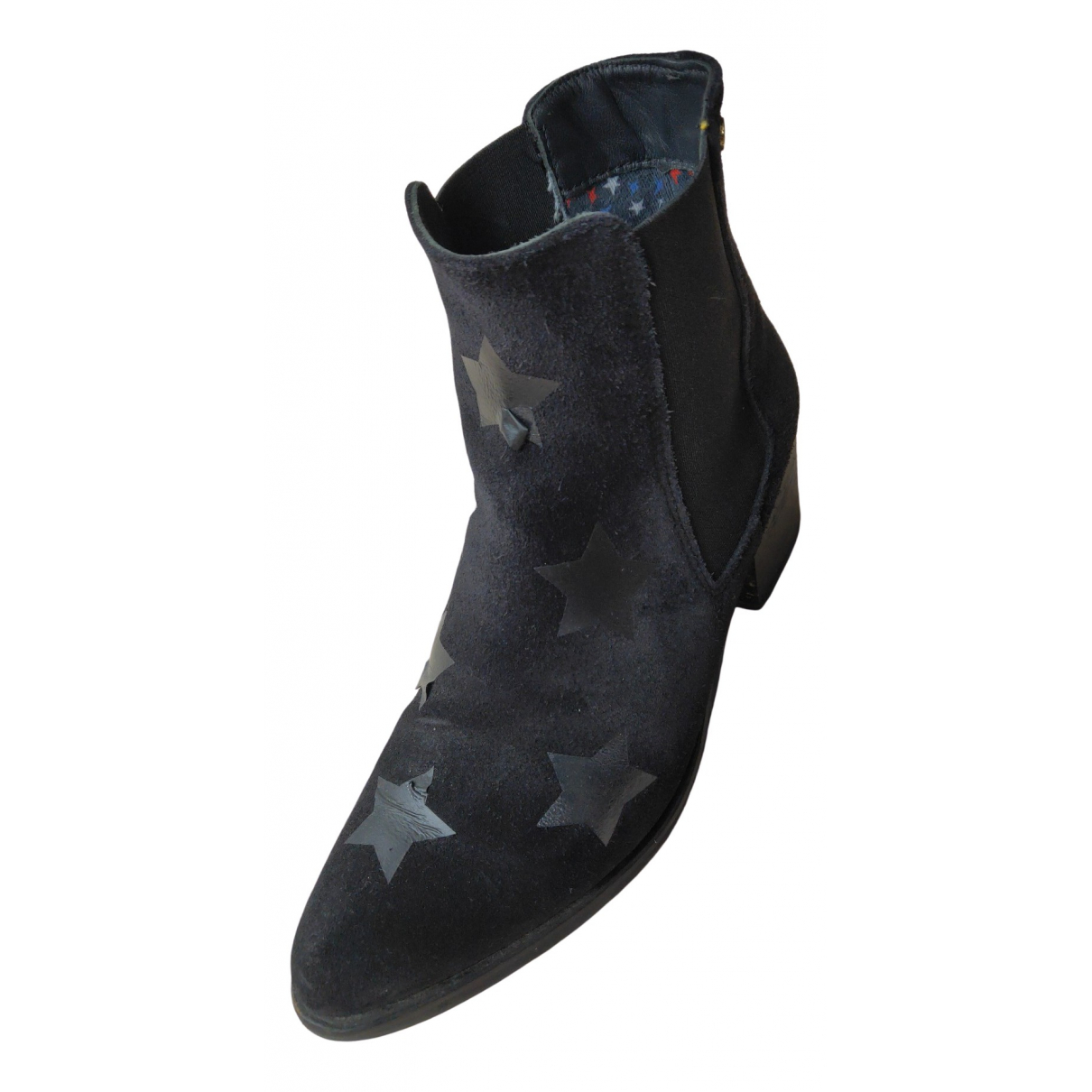 Tommy Hilfiger \N Black Suede Ankle boots for Women 36 EU