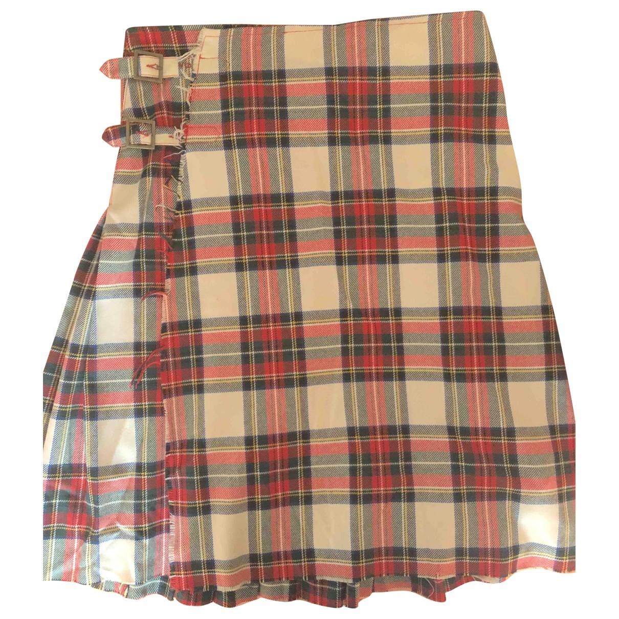 Jean Paul Gaultier \N Red Wool skirt for Women 48 IT