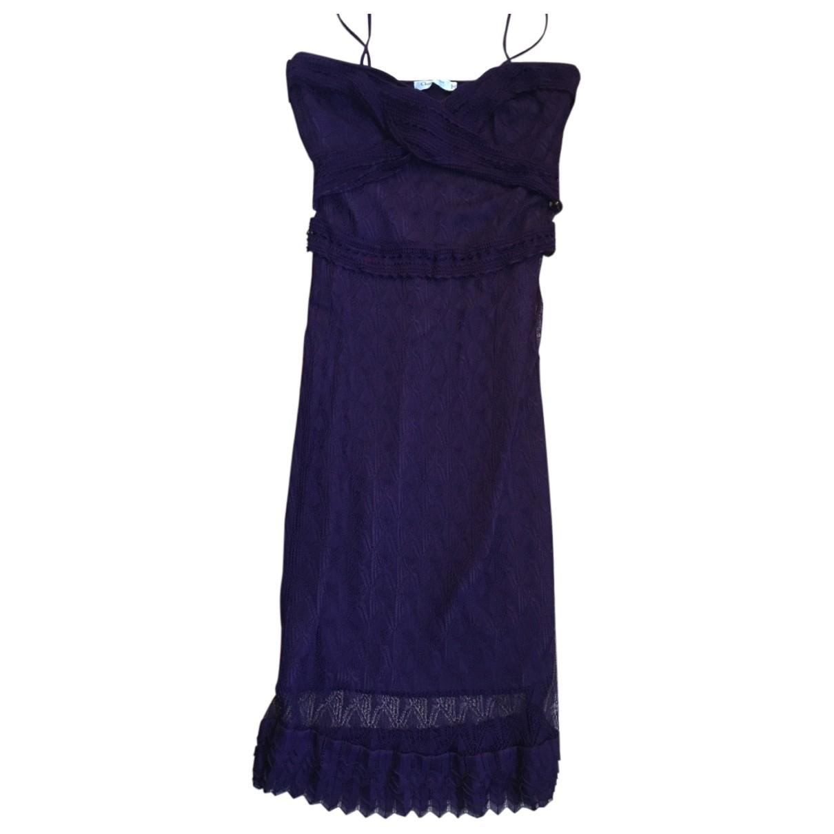 Christian Dior - Robe   pour femme en coton - elasthane - violet